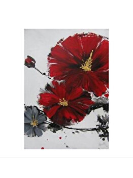 Tablou pictat manual Mendola Art, Cherry Blossom A, 218-OPK168A-7050, 70 x 50 cm de la Mendola Art