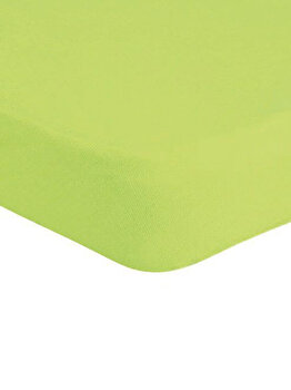 Cearceaf de pat Mendola Jersey cu elastic, 277-CE90200-06, 90 x 200 cm, Verde de la Mendola Art