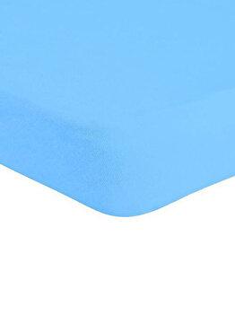 Cearceaf de pat Mendola Jersey cu elastic, 277-CE160200-05, 160 x 200 cm, Turcoaz de la Mendola Art