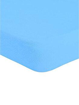 Cearceaf de pat Mendola Jersey cu elastic 180 x 200 cm, 277-CE180200-05, Turcoaz de la Mendola Art