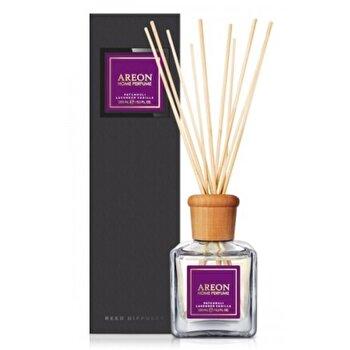 Odorizant cu betisoare Areon Home Perfume 150 ml Patchouli Lavender Vanilla Black Line de la Areon