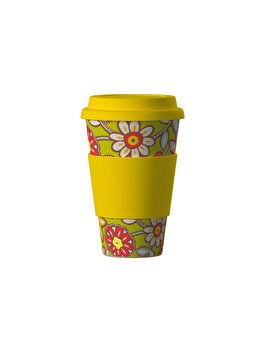 Pahar Areon ECO Bambus DAISY YELLOW, 400 ml de la Areon