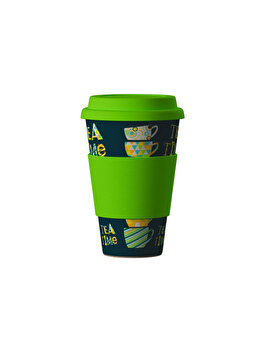 Pahar Areon ECO Bambus TEE TIME – GREEN, 400 ml de la Areon