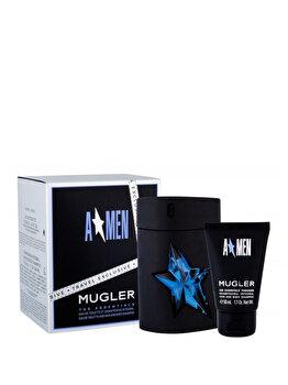 Set cadou Thierry Mugler Amen (Apa de toaleta 100 ml + Gel de dus 50 ml), pentru barbati