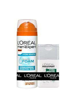 Pachet promotional L'Oreal Paris Men Expert Spuma de ras 200 ml + After Shave 125 ml