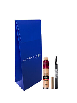 Trusa Maybelline New York: Corector universal Instant Anti Age Light + Creion tip carioca de sprancene Brow Tattoo Micro de la Maybelline