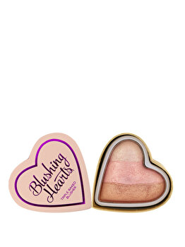 Fard de obraz I Heart Makeup Hearts Blusher Iced Hearts de la Makeup Revolution London