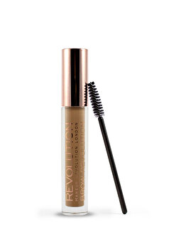 Gel pentru spancene Makeup Revolution Brow Revolution Medium Brown, 3,8 gr de la Makeup Revolution London