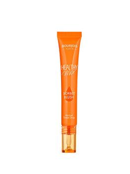 Fard de obraz lichid Bourjois Healthy Mix Sorbet Blush, 02 Apricot, 20 ml de la Bourjois