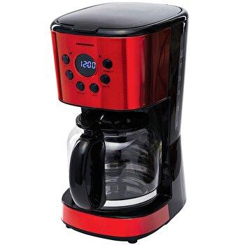 Cafetiera digitala Heinner HCM-D1500RDIX, 900 W, 1.5 L, Timer, Display Led, fara BPA, Rosu/Negru de la Heinner