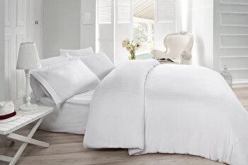 Lenjerie de pat dublu Cotton Box, din bumbac satinat 100 procente, 240 x 260 cm, 129CTN3416 de la Cotton Box