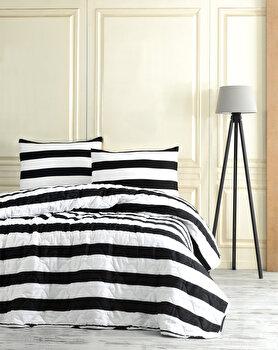 Lenjerie de pat dublu EnLora Home, din bumbac 65 procente, poliester 35 procente, 200 x 220 cm, 162ELR9224 de la EnLora Home