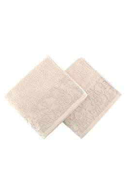Set 2 prosoape de maini Soft Kiss, din bumbac 100 procente, 50 x 90 cm, 330SFT1214 de la Soft Kiss