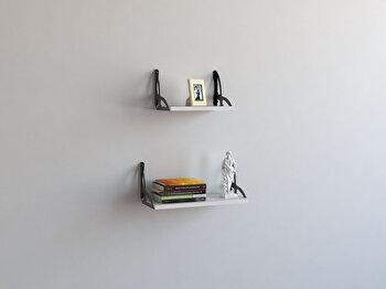 Raft de perete Decormet, din melamina 100 procente, 45 x 20 x 20 cm, 775DCM1649 de la Decormet