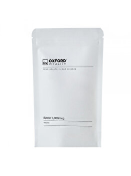 Biotina 5,000mcg (500 Tablete) de la Oxford Vitality