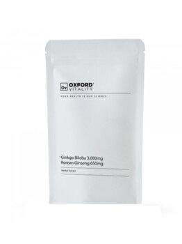 Ginkgo Biloba 3,000mg & Ginseng 650mg (500 Tablete) de la Oxford Vitality
