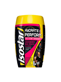 ISOSTAR H&P PUDRA IZOTONICA ANTIOX FRUCTE ROSII 400g de la Isostar