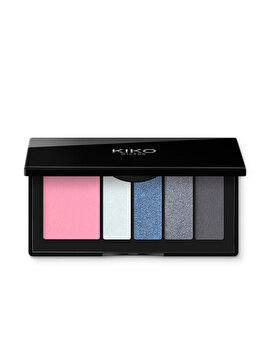 Paleta pentru machiaj Smart Eyes And Cheeks Palette, 01 Blue Symphony de la Kiko Milano