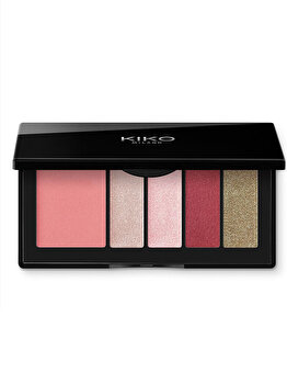 Paleta pentru machiaj Smart Eyes And Cheeks Palette, 04 Burgundy Expression de la Kiko Milano