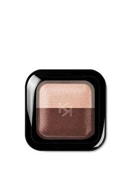 Fard de pleoape Bright Duo Baked, 02 Pearly Cream – Satin Mahogany de la Kiko Milano