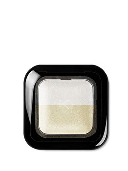 Fard de pleoape Bright Duo Baked, 08 Pearly Snow – Golden Shell de la Kiko Milano