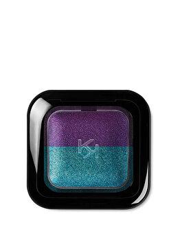 Fard de pleoape Bright Duo Baked, 09 Pearly Emerald – Metallic Violet de la Kiko Milano