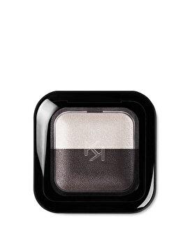 Fard de pleoape Bright Duo Baked, 22 Pearly White – Satin Graphite de la Kiko Milano