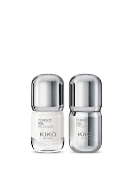 Lac de unghii, 698 White + Top Coat de la Kiko Milano