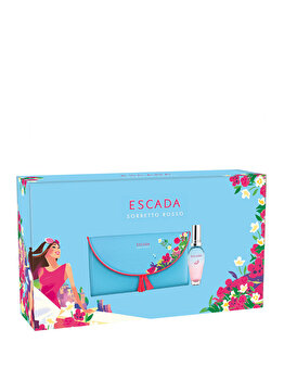 Set cadou Escada Sorbetto Rosso (Apa de toaleta 30 ml + Geanta de cosmetice), pentru femei de la Escada