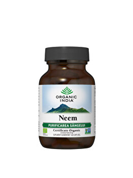 Supliment alimentar natural Neem Antibiotic Eco/Bio 60cps veg Organic India