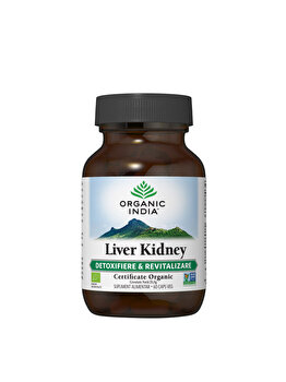 Supliment alimentar natural Liver Kidney Eco/Bio 60cps veg Organic India