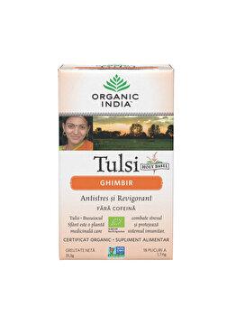 Ceai Tulsi cu Ghimbir Eco/Bio 18pl Organic India de la ORGANIC INDIA