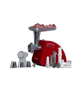 Masina de tocat universala, Oursson, accesorii carne, suc de rosii si razuire, MG5530/RD, Rosu de la Oursson