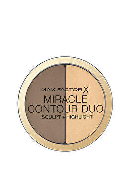 Paleta de conturare si iluminare Max Factor Miracle Contour Duo, Light/Medium, 11 g de la Max Factor