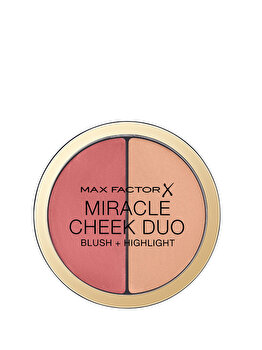Paleta pentru pometi Max Factor Miracle Cheek Duo, 20 Brown Peach & Champagne, 11 g de la Max Factor