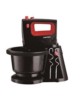 Mixer cu vas rotativ, Albatros, 300 W, vas rotativ, 5 viteze + functie Turbo, MXA300B, Negru de la Albatros