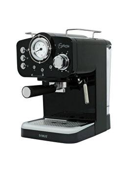Espressor de cafea Samus, ESPRESSIA BLACK, 1600 ml, inox, Negru