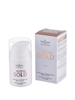 Crema pentru ochi efect lifting si iluminare,RETIN GOLD, 50ml de la Farmona Professional
