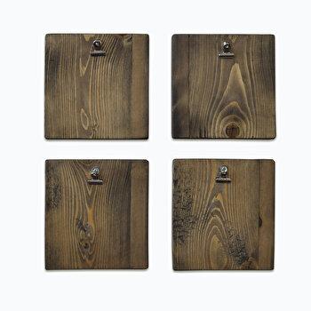 Panou Evila Originals, 792EVL1776, lemn masiv 100 procente, 15 x 15 x 1.6 cm de la Evila Originals