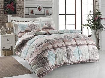 Cuvertura de pat – dubla Eponj Home, 143EPJ9911, bumbac 65 procente, poliester 35 procente, 195 x 215 cm de la Eponj Home