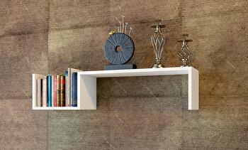 Raft de perete Moblert, 745DCD1604, pal melaminat, 18 mm, 87.8 x 21.4 x 19.6 cm de la Moblert