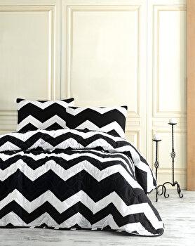 Cuvertura de pat – single EnLora Home, 162ELR9119, bumbac 65 procente, poliester 35 procente, 180 x 240 cm de la EnLora Home