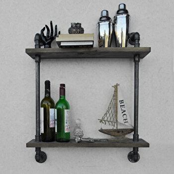 Etajera Evila Originals, 792EVL1795, lemn masiv 100 procente, handmade, 60 x 65 x 12 cm de la Evila Originals