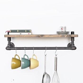 Etajera Evila Originals, 792EVL1701, lemn masiv 100 procente, handmade, 60 x 10 x 12 cm