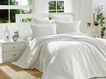 Cuvertura de pat – dubla EnLora Home, 162ELR6231, bumbac 100 procente, 220 x 240 cm de la EnLora Home