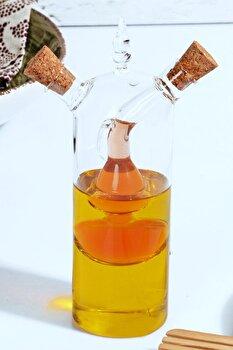 Recipient pentru ulei Kosova, 430KSV2094, sticla 100 procente, 5 x 5 x 18 cm de la Kosova