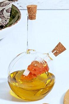 Recipient pentru ulei Kosova, 430KSV3003, sticla 100 procente, 6 x 6 x 19 cm