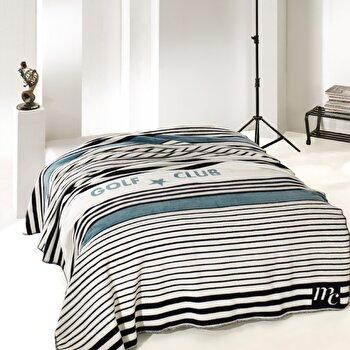 Patura pentru pat double Marie Claire, 153MCL8230, bumbac 60 procente, 200 x 220 cm de la Marie Claire