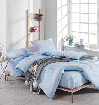 Lenjerie pentru pat double EnLora Home, 162ELR1418, bumbac 65 procente, poliester 35 procente, 220 x 240 cm de la EnLora Home