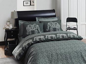 Set lenjerie de pat – single Eponj Home, 143EPJ1771, bumbac 65 procente, poliester 35 procente, 160 x 240 cm de la Eponj Home